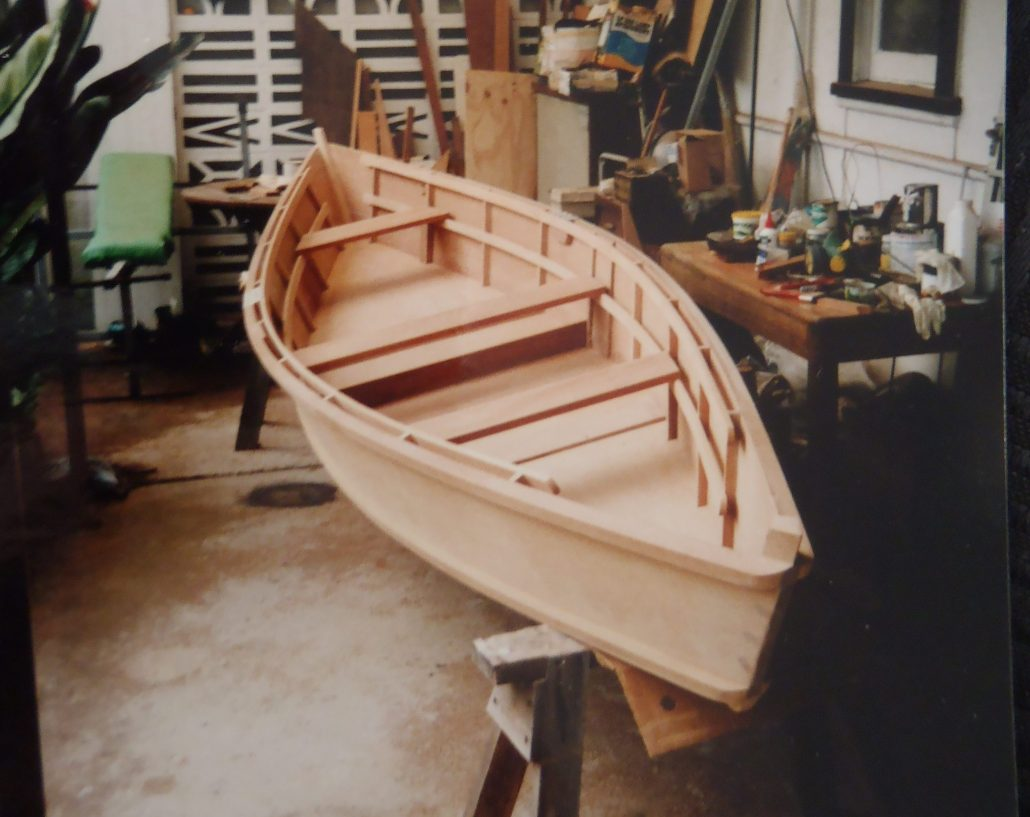 Dory canoe ply. Built by David Mitchell, Australia