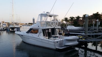 Precision 40 Power Boat delivery from Gold Coast to Newcastle by skipper David Mitchell