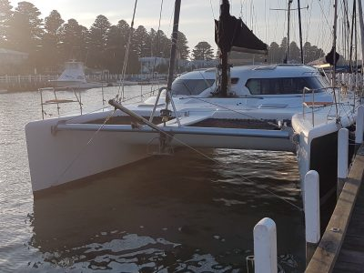 Multihull Catamaran Fusion 40 Sonra Yacht Delivery by delivery skipper David Mitchell