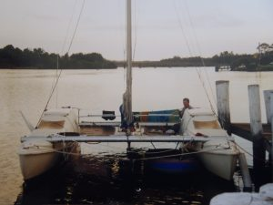 Boat skipper David Mitchell Seawind 24 Catamaran Australia Camden Haven