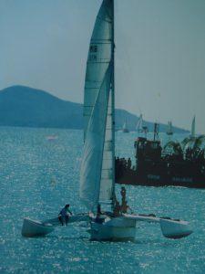 Crowther Twiggy Trimaran Spirit, Airlie Beach race week. Skipper - David Mitchell
