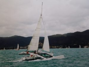Crowther Twiggy Trimaran Spirit, Airlie Beach race week. Skipper - David Mitchell