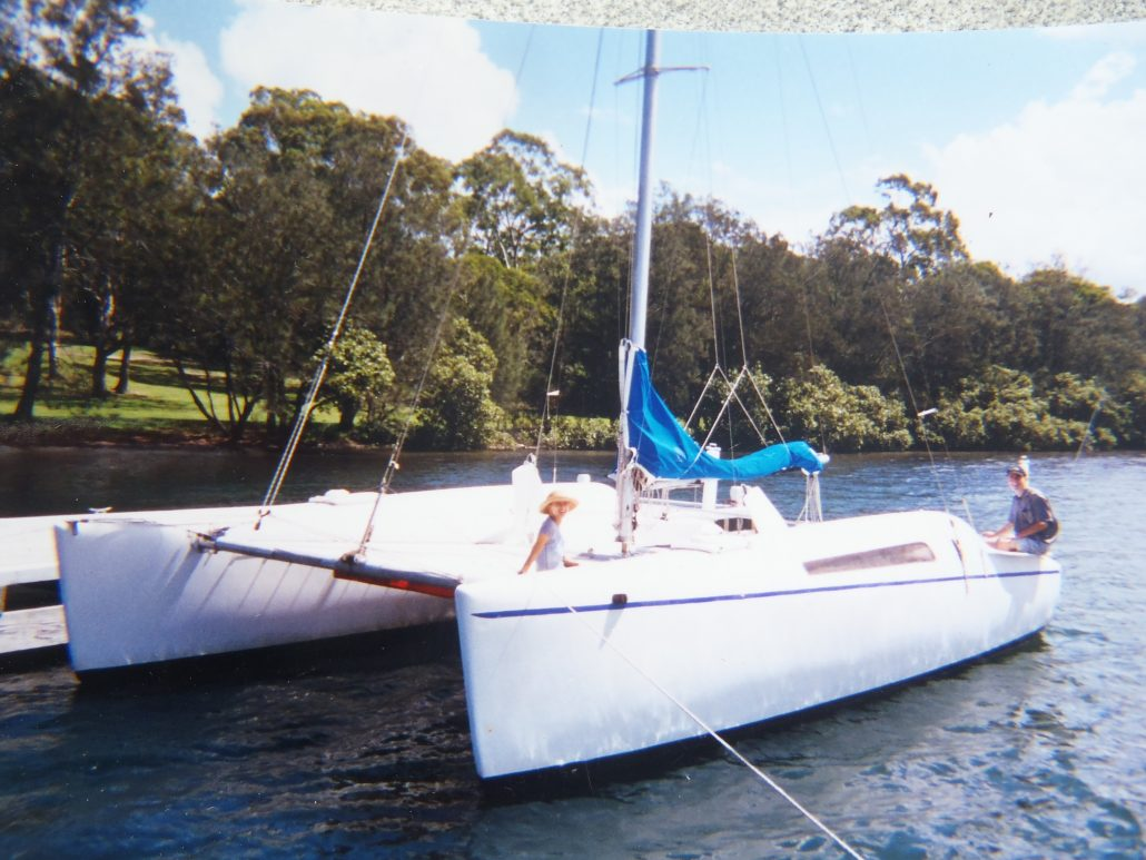 Sailing Linx 28 Catamaran delivery skipper Rathmines NSW