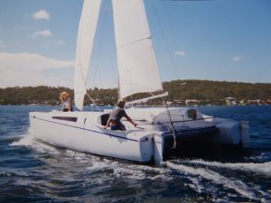 Sailing Linx 28 Catamaran delivery Peter Cherry Wangi NSW Australia