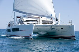 Crowther Catana 42. Catamaran Delivery Australia Pacific