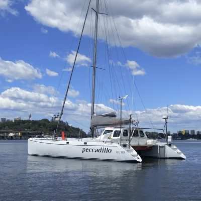 Chris White Catamaran Peccadillo delivered by delivery skipper Jamie Mitchell from Brisbane to Melbourne