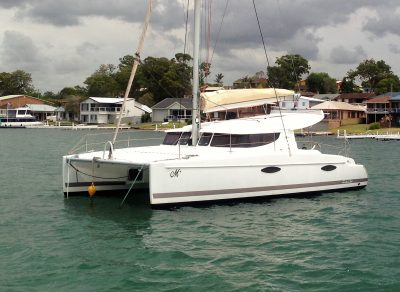 Mahi 36 Fountain Pajot catamaran delivered by deliveryskippers David Mitchell yacht Master NSW to Brisbane Manly