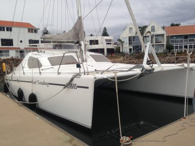 Multihull Yacht delivery by deliveryskipper David Mitchell 40 foot Catamaran