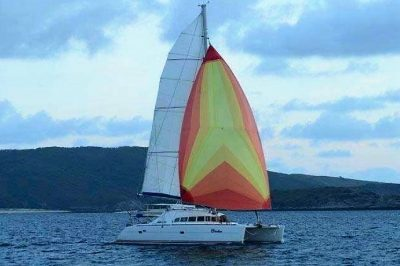Catamaran delivery Lagoon 410 delivered by skipper David Mitchell from Brisbane to Melbourne