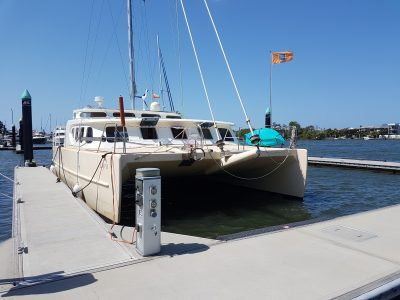 Catamaran delivery. Boat works to Harvey bay by skipper David Mitchell