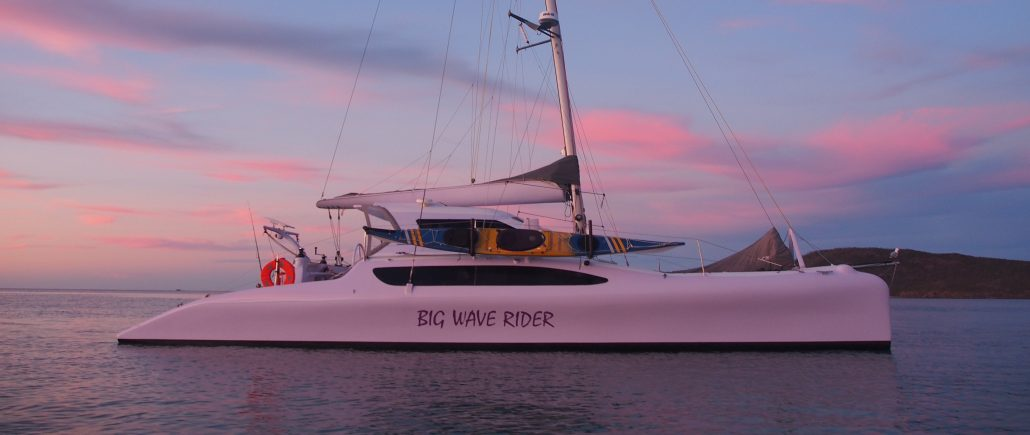 Big Wave Rider Chamberlin Catamaran - Multihull delivery skipper - David Mitchell
