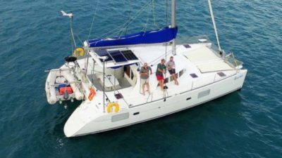 Lagoon 380 Multihull Yacht delivery. Catamaran skippered by David Mitchell. Catamaran delivered from PNG to Cairns