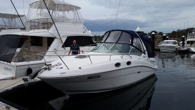 Sea Ray 275 Boat Delivery NSW Australia by Delivery Skippers David Mitchell and Steve Broughton