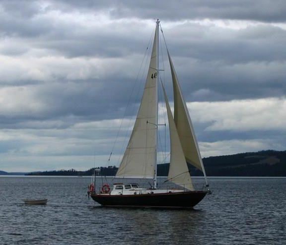 Yacht TRIDDAR Alan Payne Jamie Mitchell delivery