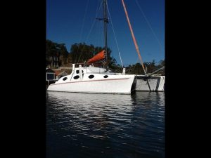 Crowther Catamaran. Multihull Yacht Delivery NSW Australia