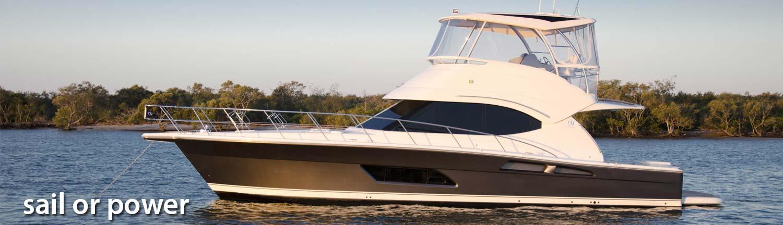 riviera power boat delivery by Yacht Skipper David Mitchell, Australia