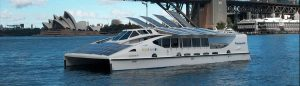Solar Sailor - Hybrid Electric Catamaran SYDNEY Harbor - Senior Engineer and skipper - David Mitchell